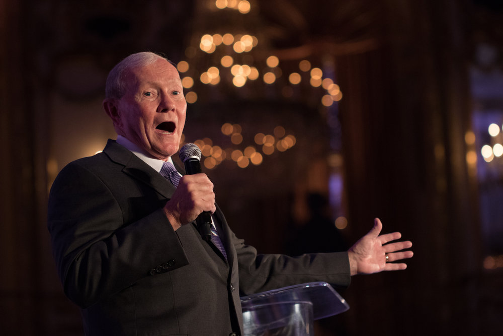 The General Sings Frank! - Former Joint Chief General Martin Dempsey sings Sinatra at the Navy SEALs Fundraiser.