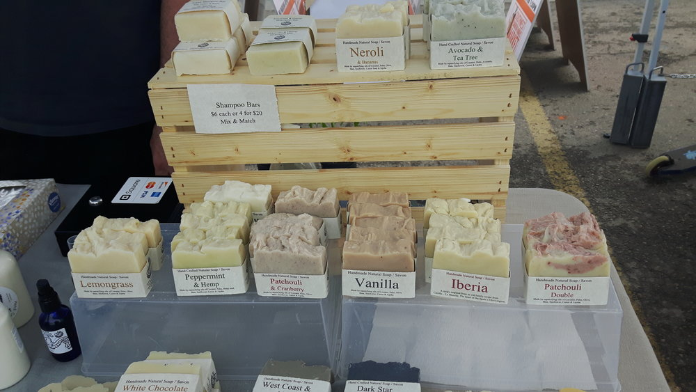The beautiful wares of Ada's Soaps!