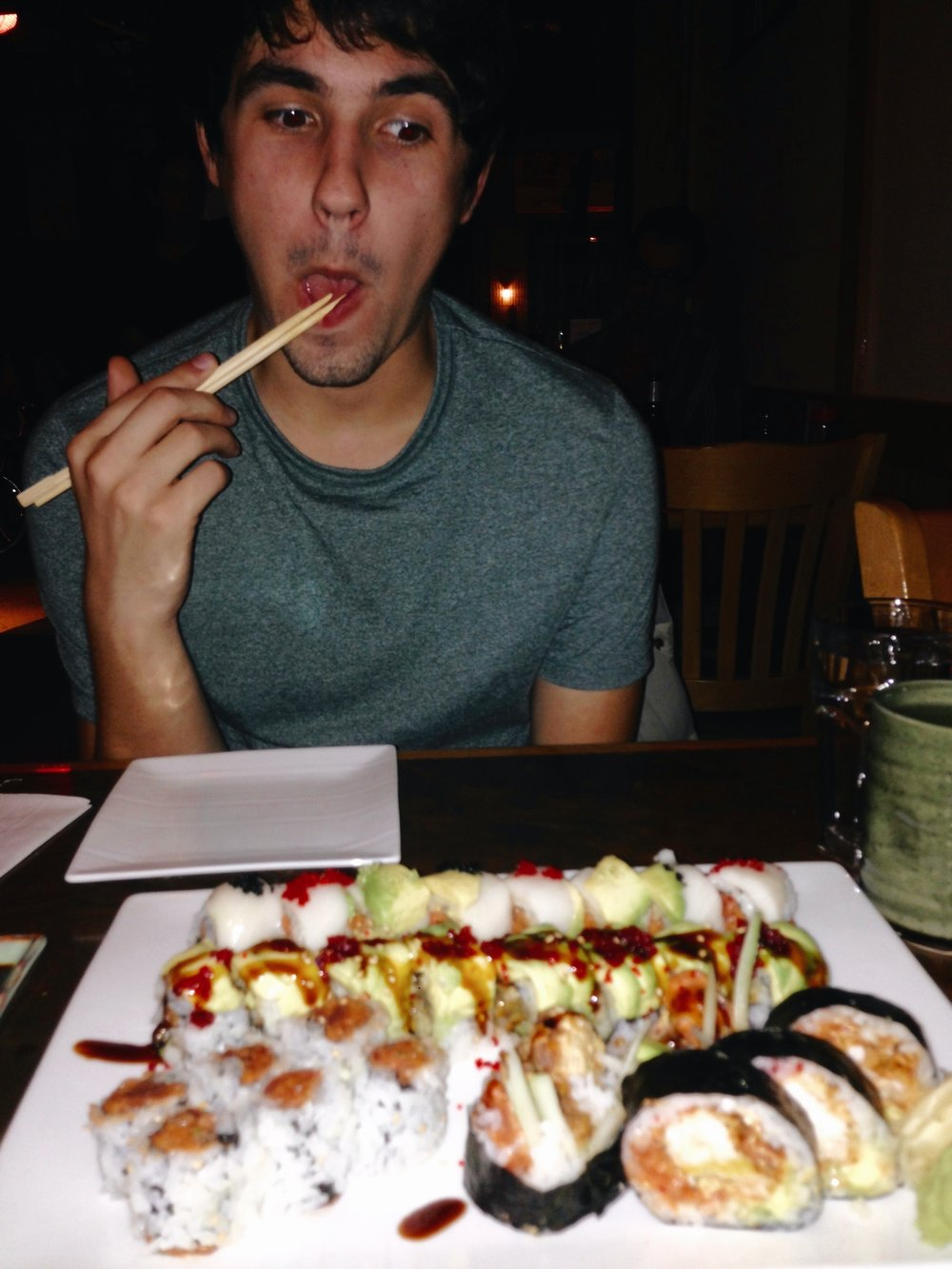 Very serious part of relocation: finding the nearby sushi restaurant and trying out all the rolls. I enlisted the help of my brother. He is a very reliable (read: always in the mood to get sushi).