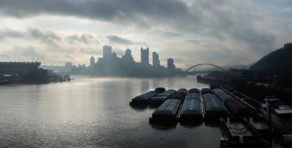 View of Downtown Pittsburgh. © Brian Cohen, 2015.