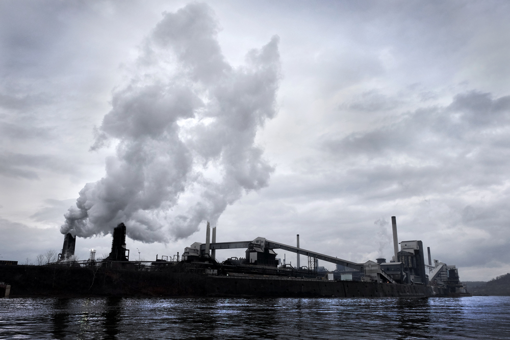 On the Monongahela River about 15 miles southeast of Pittsburgh, United States Steel Corporation's Clairton Coke Works is the largest coke manufacturing facility in the U.S.  In January, 2015, the environmental non-profit PennFuture, announced legal action against U.S. Steel for violations of county, state, and federal clean air laws at the Clairton Coke Works.   ©  Brian Cohen, 2015.