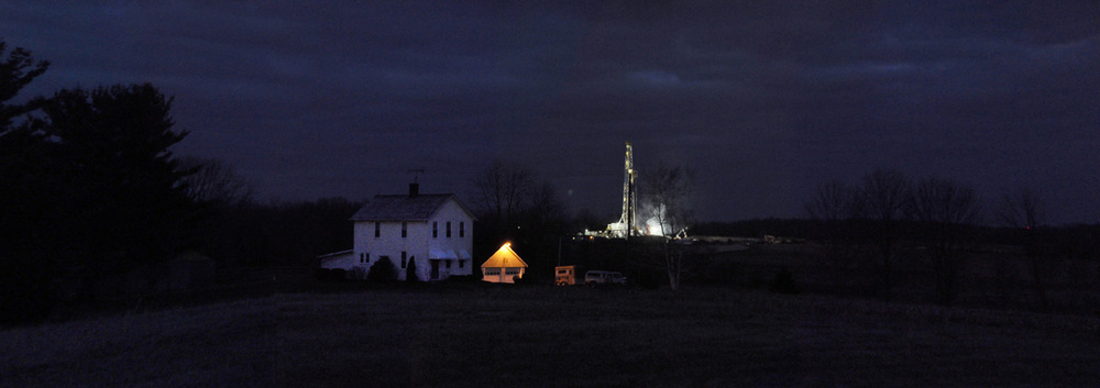 XTO's Patton well pad and rig in Butler County.  © Brian Cohen/MSDP 2011