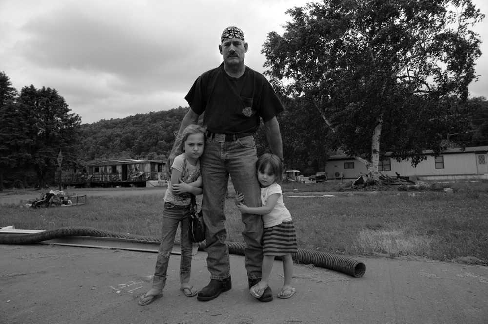 "Steve Smith and his daughters, Kaydan, aged six, and Haley, two, stand where the family mobile home used to be. The land under Riverdale Trailer Park in Jersey Shore, PA, was sold to Aqua America as the site for a water-extraction plant for Marcellus Shale gas drilling.               ©       Normal   0           false   false   false     EN-US   X-NONE   X-NONE                                                                                                                                                                                                                                                                                                                                                                           /* Style Definitions */  table.MsoNormalTable 	{mso-style-name:""Table Normal""; 	mso-tstyle-rowband-size:0; 	mso-tstyle-colband-size:0; 	mso-style-noshow:yes; 	mso-style-priority:99; 	mso-style-parent:""""; 	mso-padding-alt:0in 5.4pt 0in 5.4pt; 	mso-para-margin-top:0in; 	mso-para-margin-right:0in; 	mso-para-margin-bottom:10.0pt; 	mso-para-margin-left:0in; 	line-height:115%; 	mso-pagination:widow-orphan; 	font-size:11.0pt; 	font-family:""Calibri"",""sans-serif""; 	mso-ascii-font-family:Calibri; 	mso-ascii-theme-font:minor-latin; 	mso-hansi-font-family:Calibri; 	mso-hansi-theme-font:minor-latin;}     Lynn Johnson/MSDP 2012"