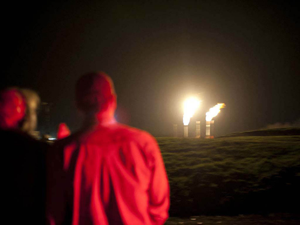 A gas-drilling site in Springville, Susquehanna County, PA. © Nina Berman/MSDP 2012
