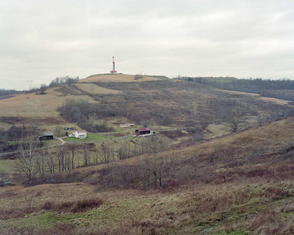 View of a natural-gas drilling rig along Devil's Half Acre Road in East Finley, PA on 01/24/2012.  © Noah Addis/MSDP 2012