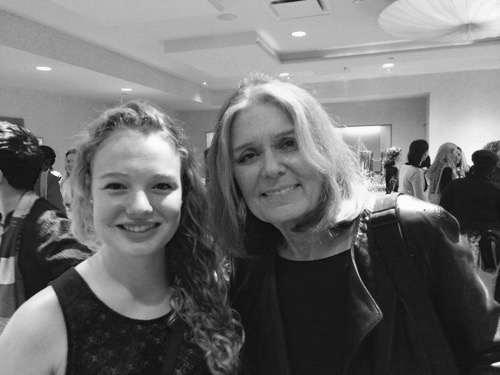 When Sophie met Gloria Steinem at the New York Women's Foundation breakfast, May 8, 2014. Go Girls. PS. Sam, my son, also met Gloria one day when we crossed paths on Lexington Avenue. Go Boys and Girls.