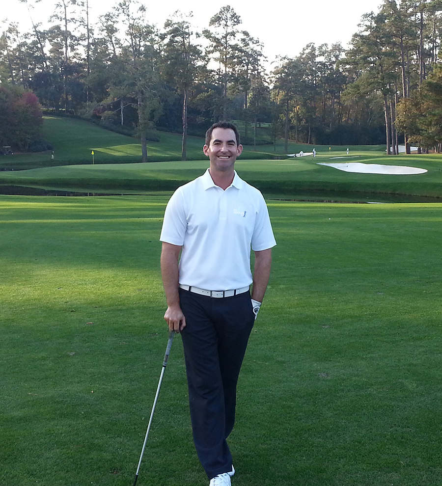 Peter playing one of his favorite holes in the world... The 15th at Augusta National