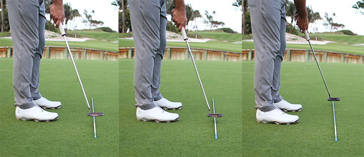 Practice your stroke over an alignment rod