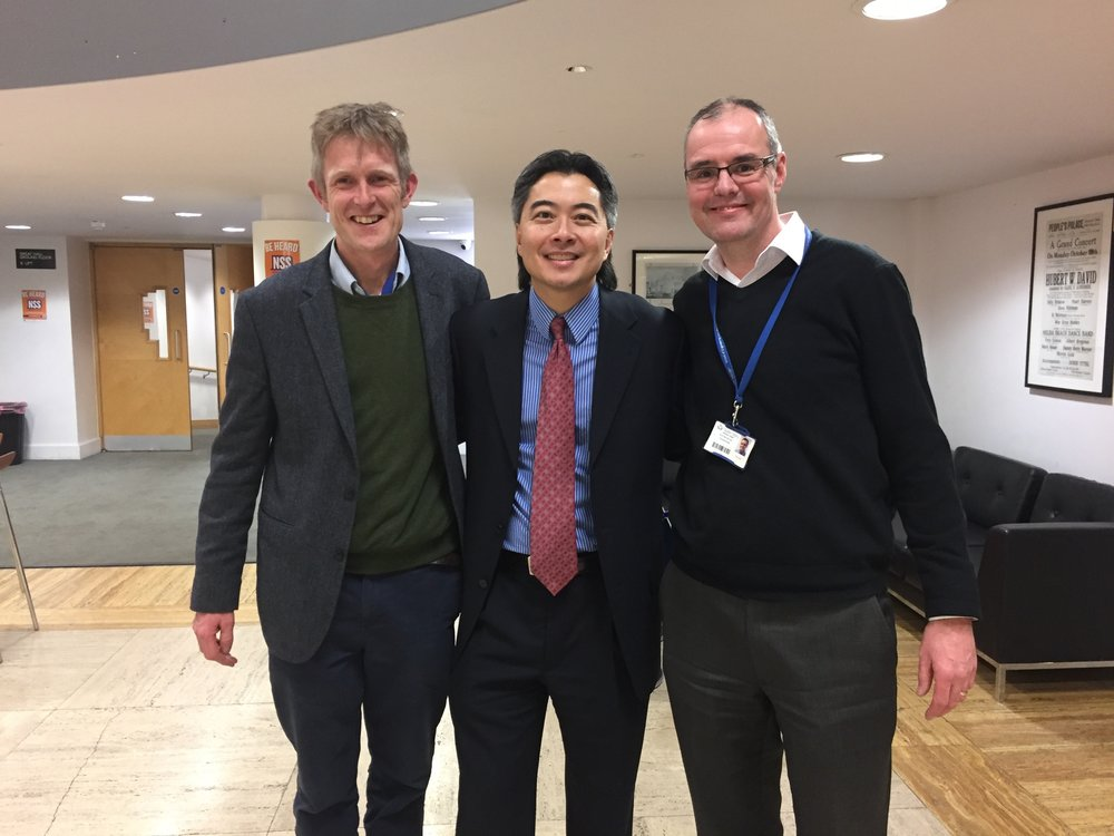 Clark Hung (center) with Martin Knight (left) and David Lee (right)