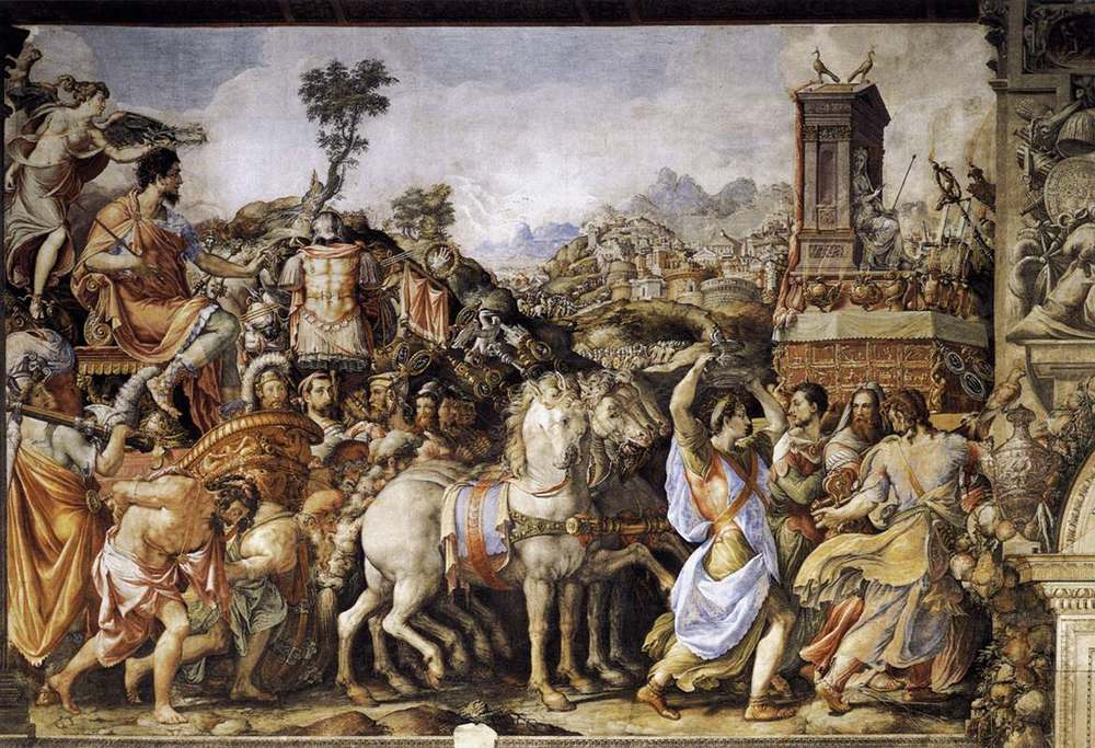 The triumph of Furius Camillus by Francesco Salviati