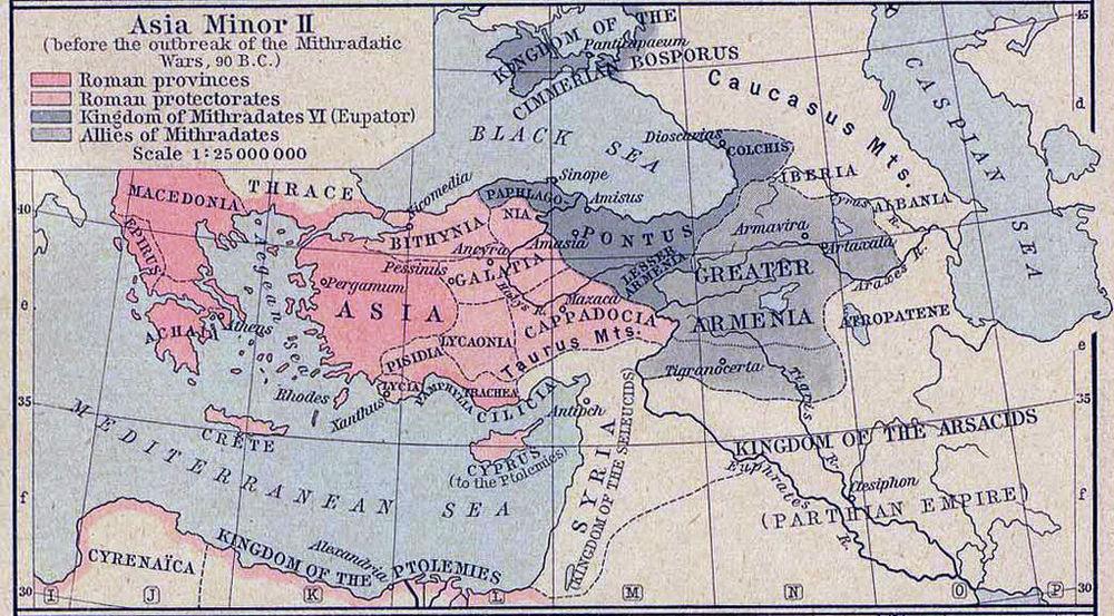 Asia Minor, 90 BC