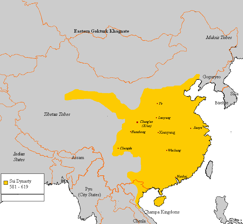 Sui Dynasty holdings