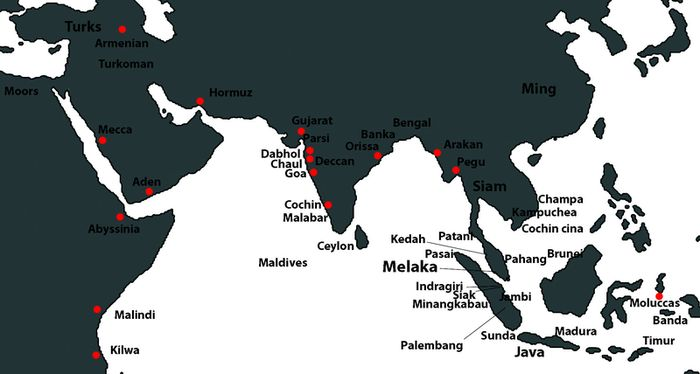 Some of the important maritime cities of the day