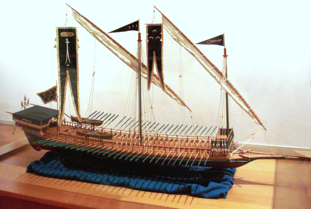 Model of a Hayreddin galley