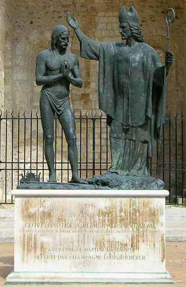 Statue of Baptism of Clovis