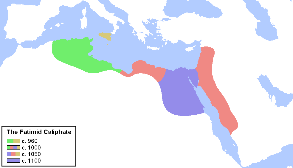 Map of Fatimid Caliphate