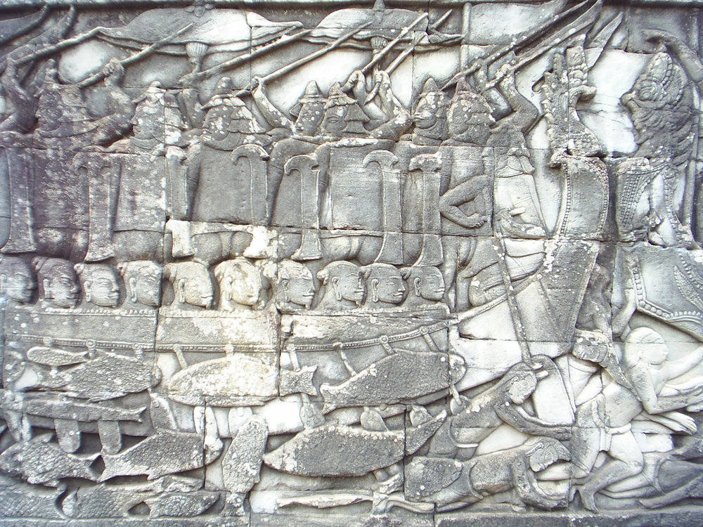 Bayon Battle Bas-Relief