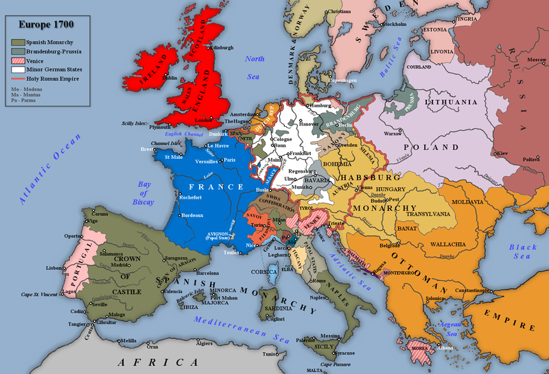 Europe, 1700