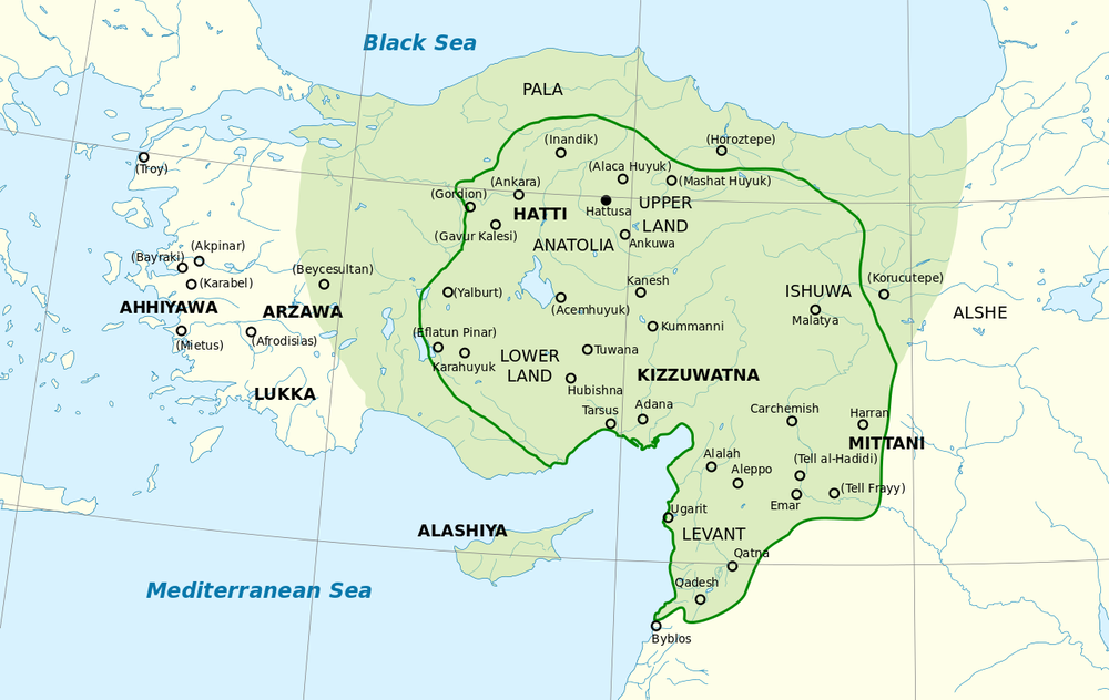 Hittite Empire in late 1300s