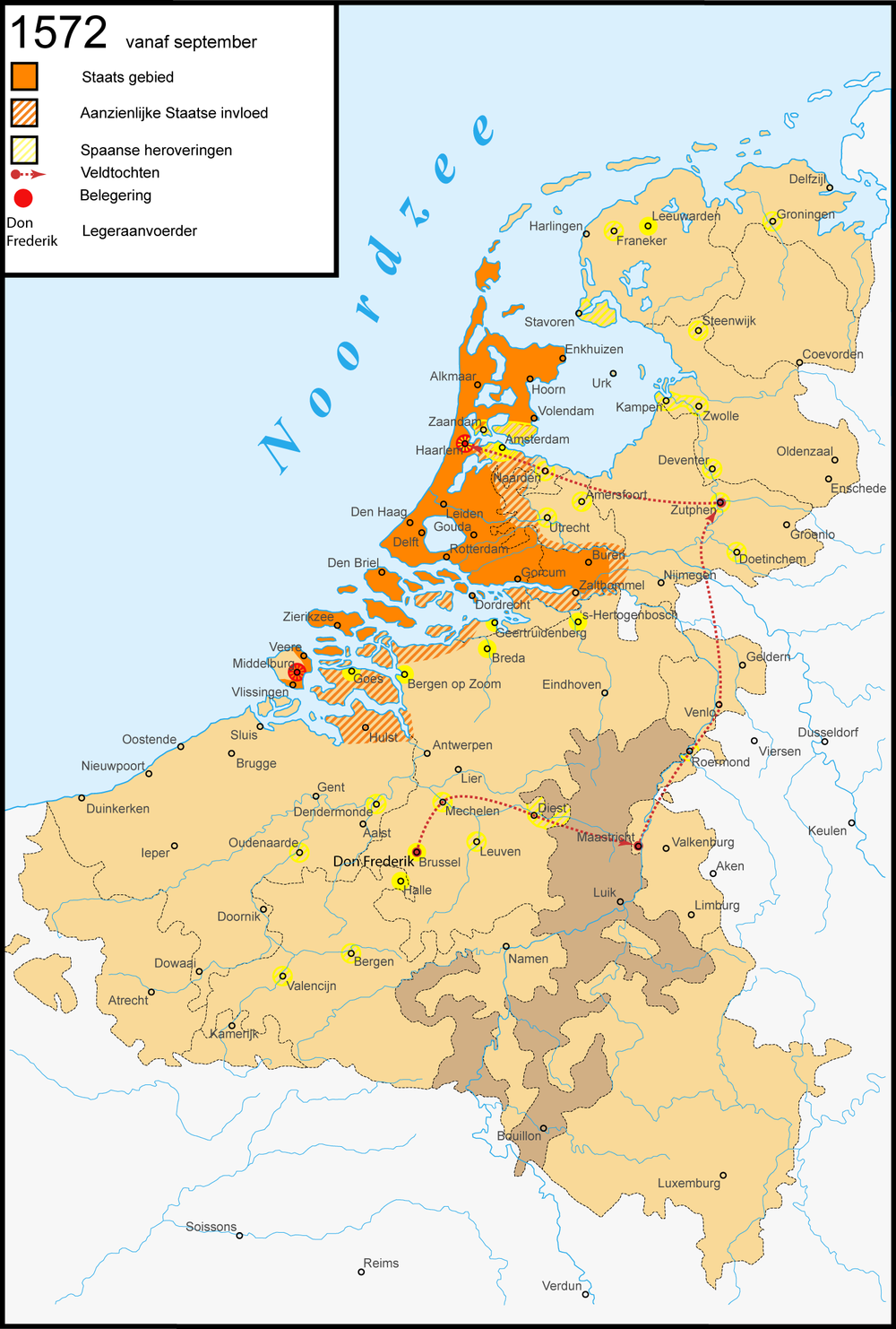 Netherland end of 1572