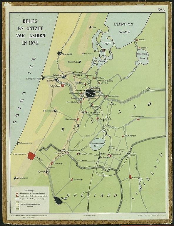 Map of Siege of Leiden