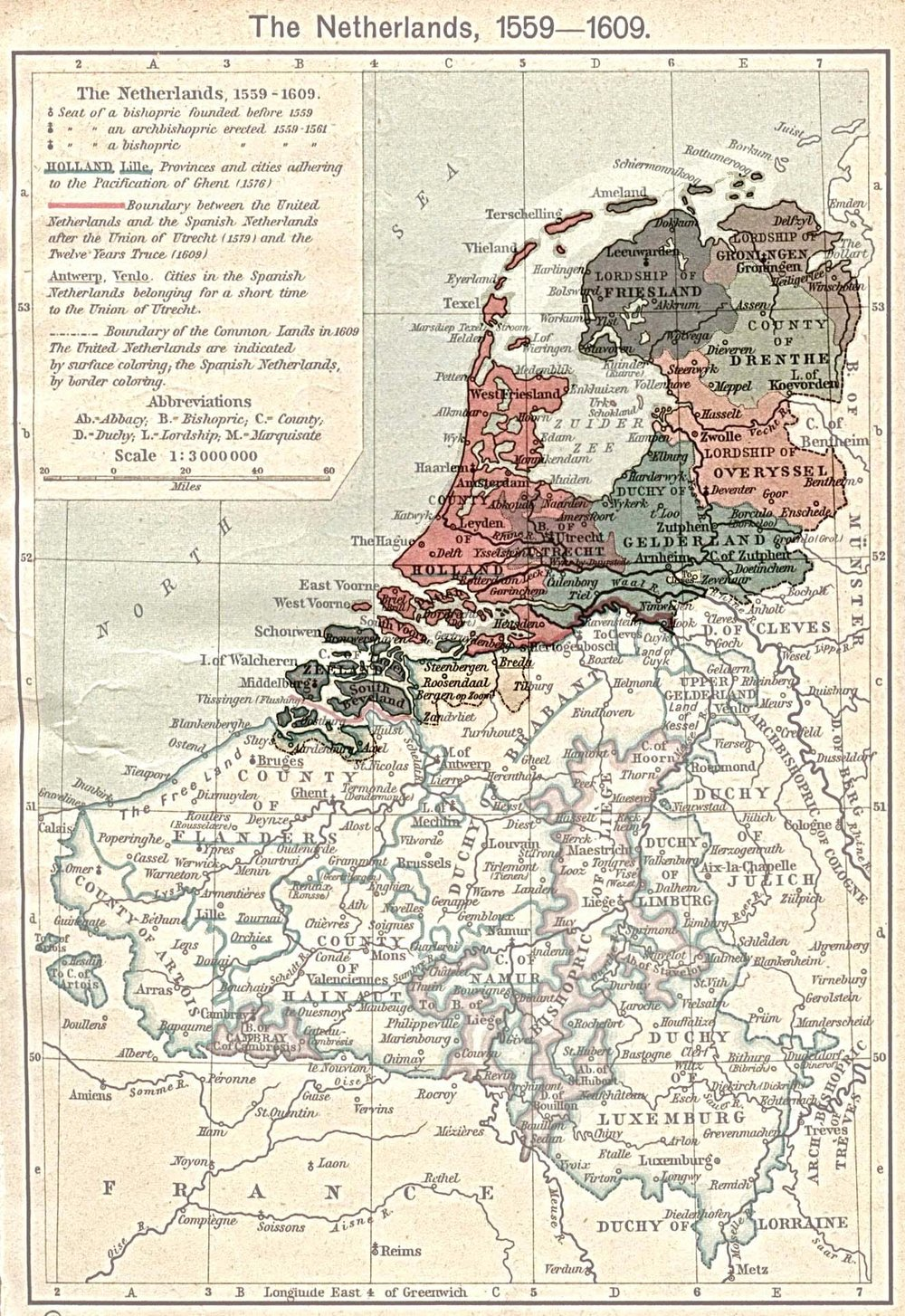 Map of Northern Netherlands