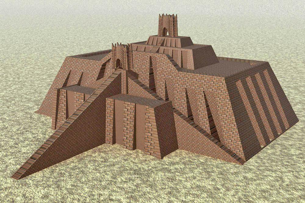 Ziggurat of Ur rendering