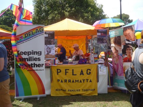 PFLAG at Fair Day 2017, Camperdown Memorial Park