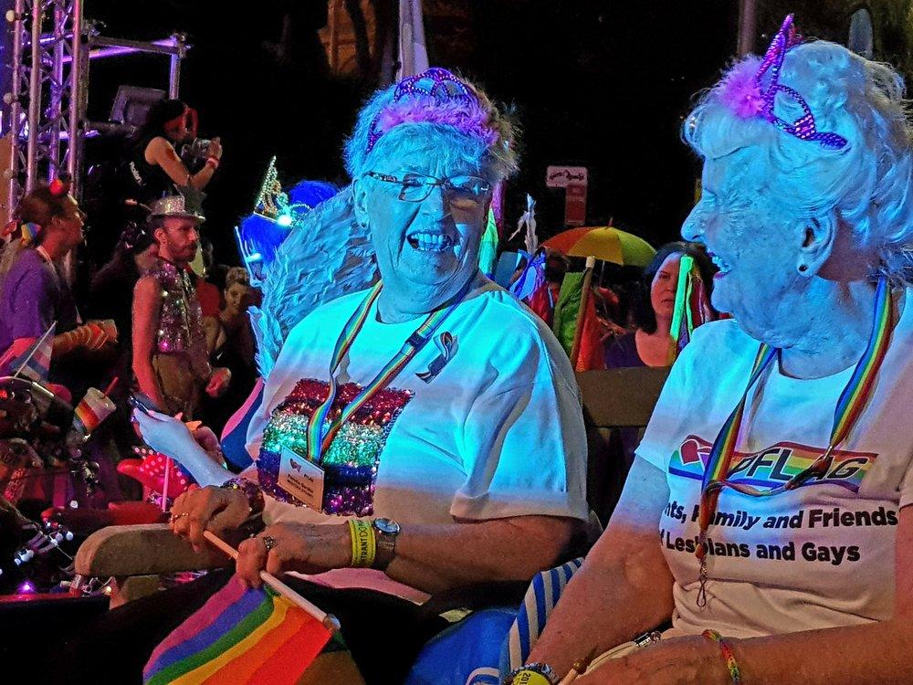 A couple of Mardi Gras Queens!!