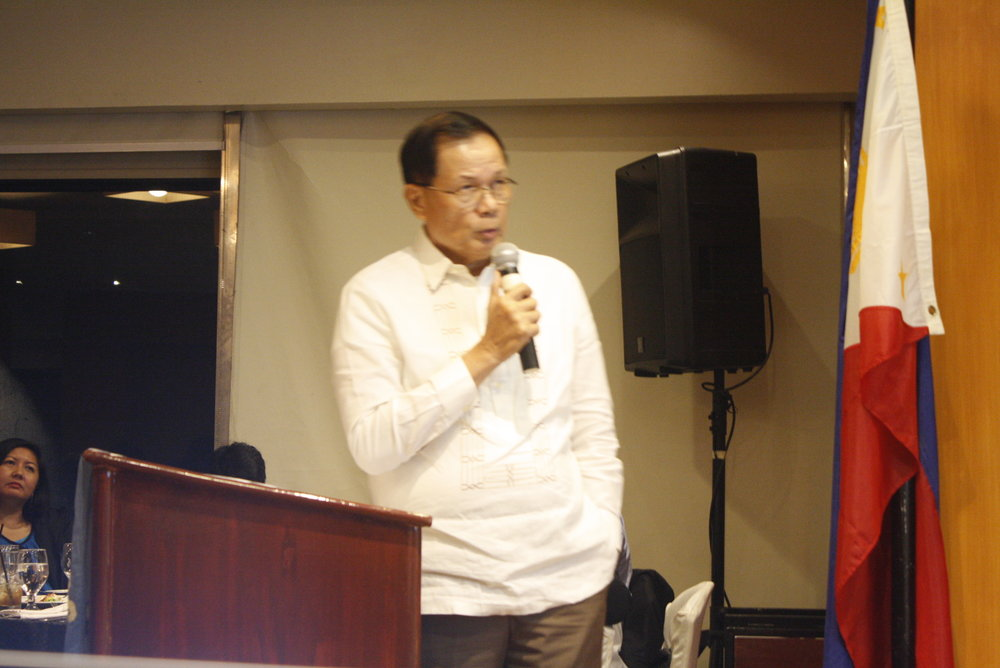 DPWH Undersecretary Romeo S. Momo during his presentation of the DPWH's vision.