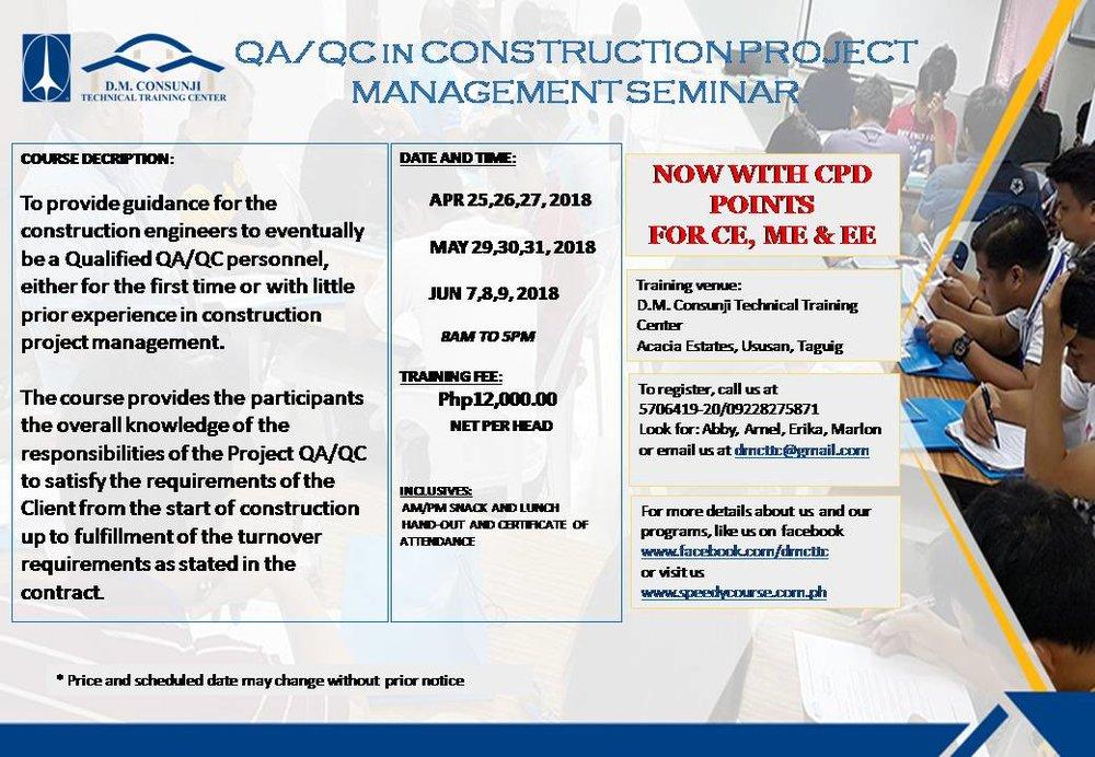 QAQC IN CONSTRUCTION PROJECT MANAGEMENT SEMINAR APR - JUN.jpg