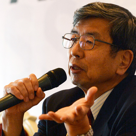 """""""Asia is growing very fast and we should continue to have stronger policies,"""" ADB President Takehiko Nakao (in photo) said in an April 11 interview with BusinessWorld. -- AFP"""