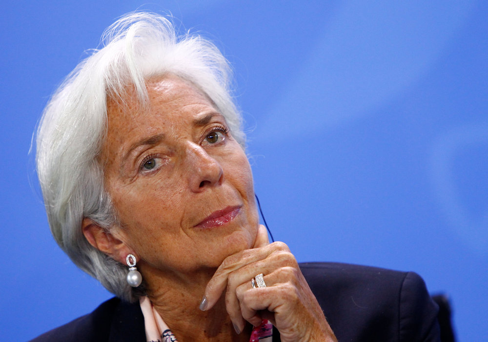 Christine Lagarde, Managing Director of the International Monetary Fund (IMF), attends a news conference after a meeting in the chancellery in Berlin June 11, 2018. — Reuters pic