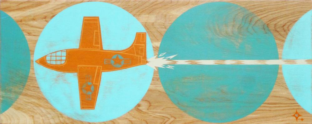 Chuck Flies an Orange Plane