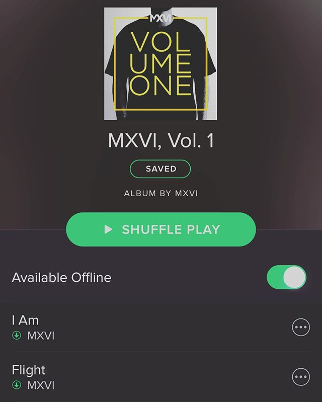 Also available on @spotify for you swagg streamers out there. Comment below what's your fav track? #themxvi
