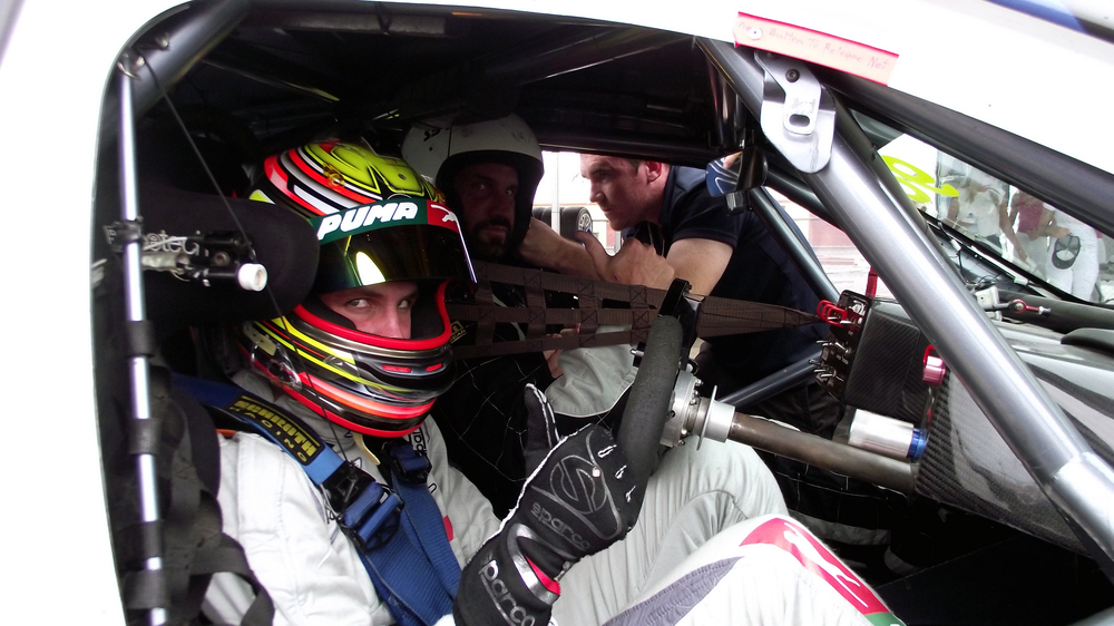 As part of the test day, Bode gave rides to a number of attendees, including the infamous Travers 'Candyman' Beynon