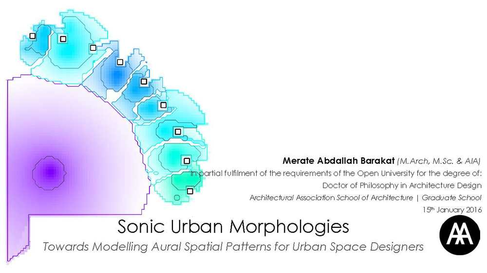 Sonic Urban Morphologies: Towards Modelling Aural Spatial Patterns for Urban Space Designers