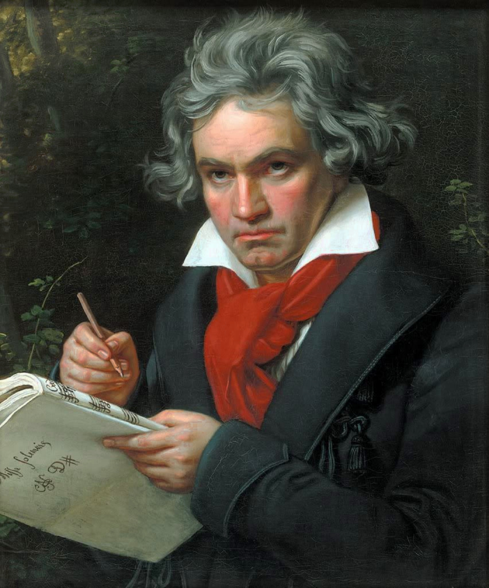 Ludwig van Beethoven A notable musician that lost the hearing ability during his composing years. Portrait by Joseph Karl Stieler, 1820 (3TRIOR, 2013)