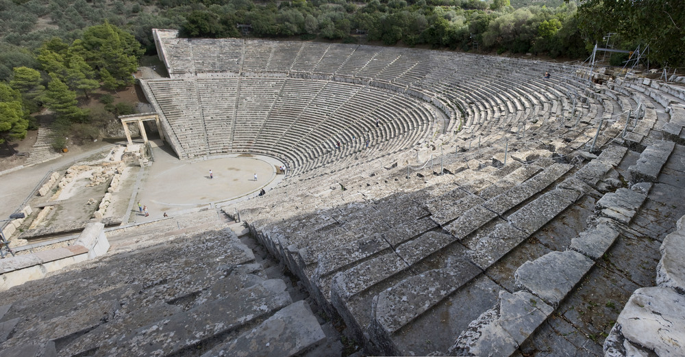 An Image of the Epidaurus Theatre. Image by Andreas Trepte