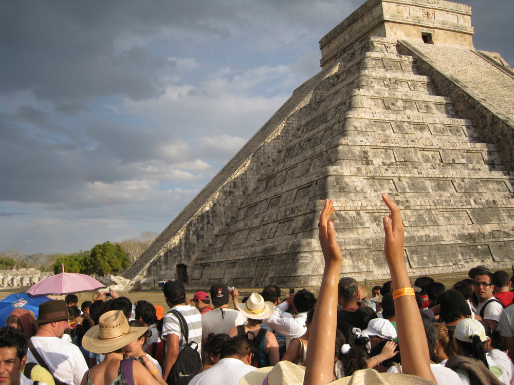 An image of Chichén Itzá - Yucatan, Mexico. Pre-Columbian Mayan Architecture. Image by Bmamlin - Clapping in specific parts if the courtyard triggers chirp-like flutter echoes.
