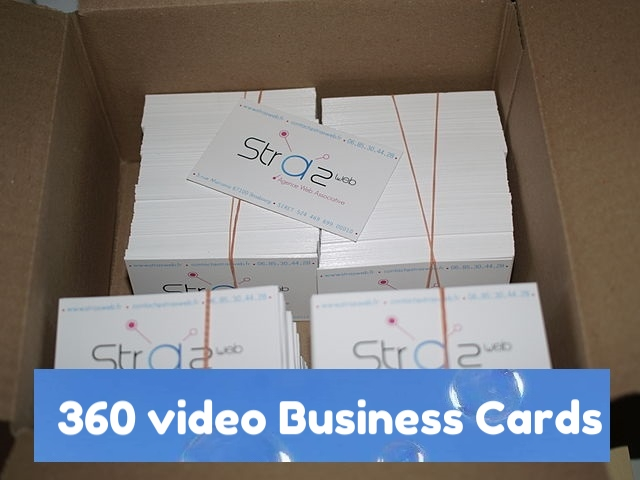 360video business cards for 360vr vr