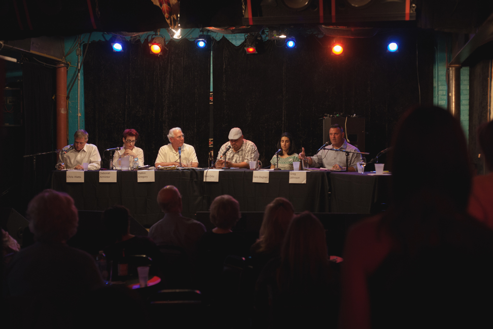 Council candidate forum on Monday, April 25 at Dan's Silverleaf. Photo by Matthew Granados.