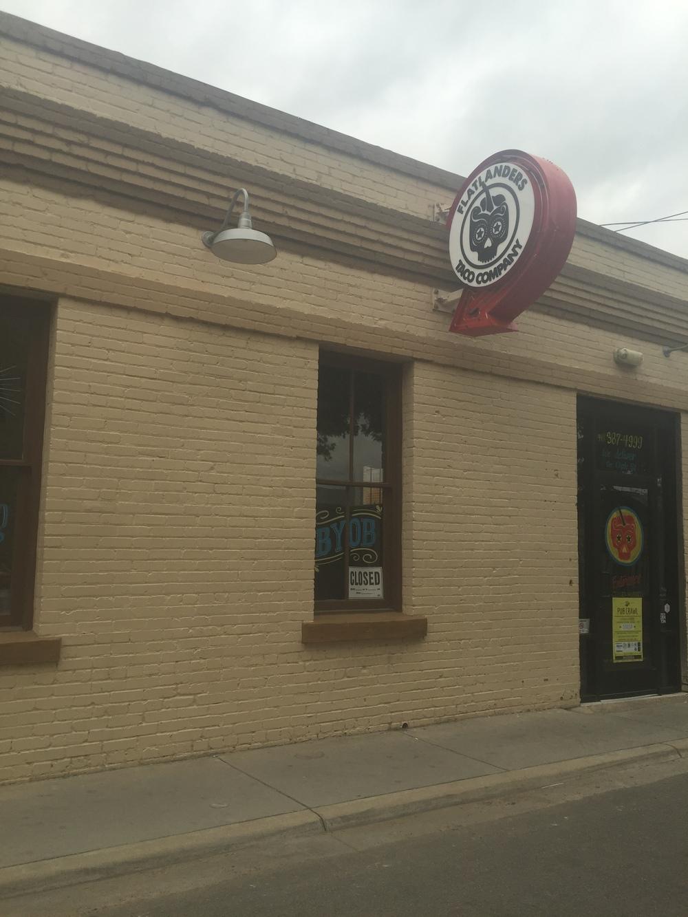 Flatlanders Taco Company closed its doors in Denton on May 4, 2016. Photo by Sara Button.