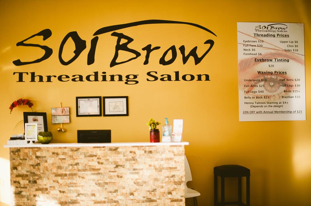 SOI Brow Threading Salon is open! Photo by Shaina Sheaff