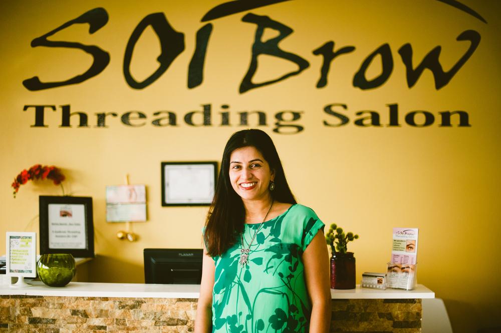 Alpana Jacob in her storefront. Photo by Shaina Sheaff