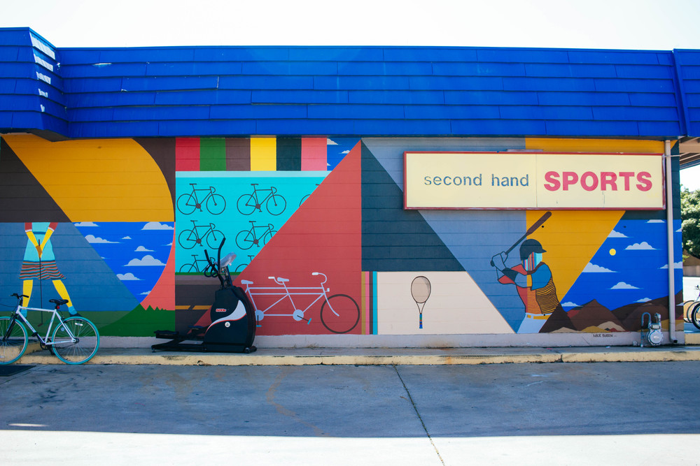 Second Hand Sports Mural. Photo by Adrian Samano