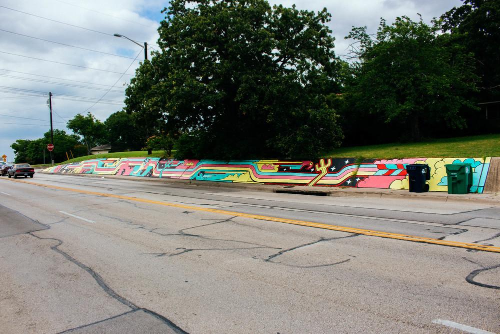 Mural sponsored by Keep Denton Beautiful on Bonnie Brae. Photo bye Adrian Samano.