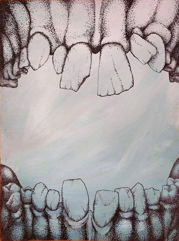 Teeth  Drawing by Laura Ervin