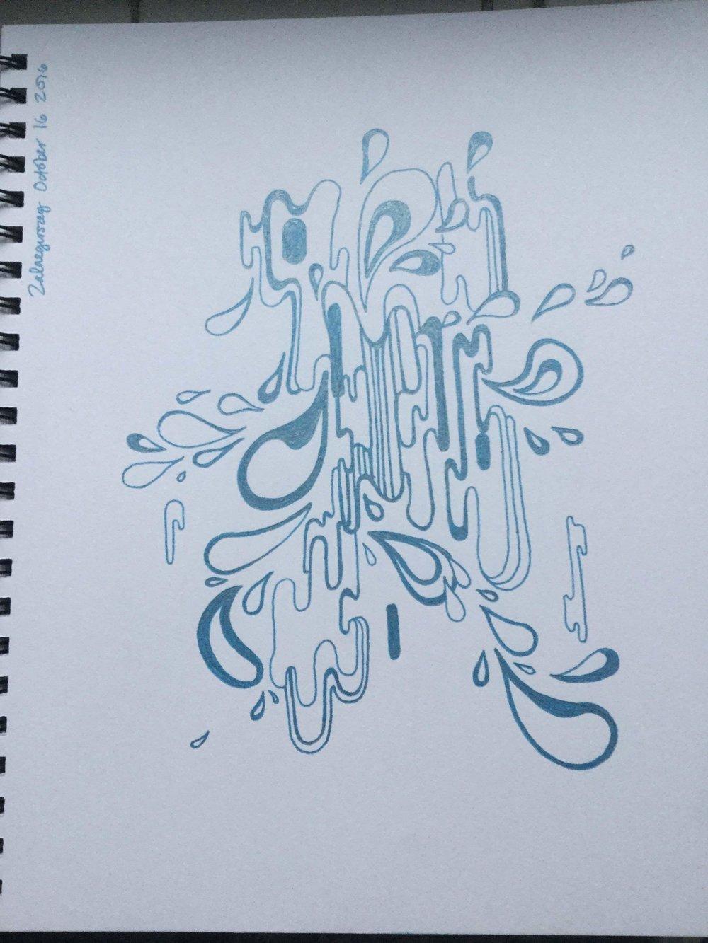 Inktober Challenge - Wet