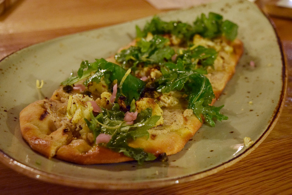 Roasted Cauliflower Flatbread